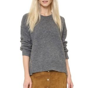 Madewell Grey Connection Pullover Sweater Wool